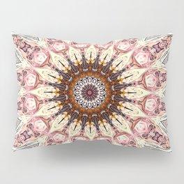 Delicate Pastel Pink Boho Mandala Pillow Sham