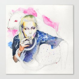 Yolandi Visser and Her Rat Canvas Print