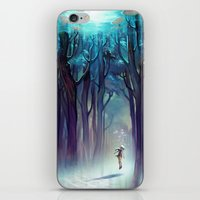loish iPhone & iPod Skins featuring AquaForest by loish