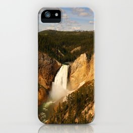 Majestic Yellowstone Upper Falls iPhone Case