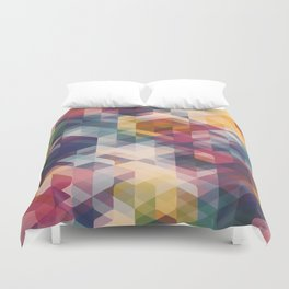 Cuben Curved #8 Duvet Cover