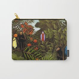 Exotic Jungle Landscape with Monkeys and Birds by Henri Rousseau Carry-All Pouch
