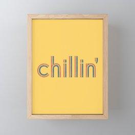 Chillin' Framed Mini Art Print
