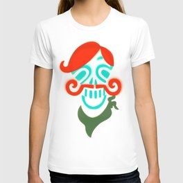Sir Skull with Mustache  T-shirt