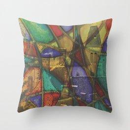 saint-vincent vitrail Throw Pillow