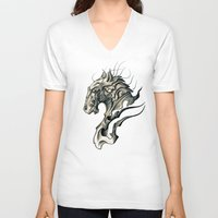 horse V-neck T-shirts featuring Horse by Nuam
