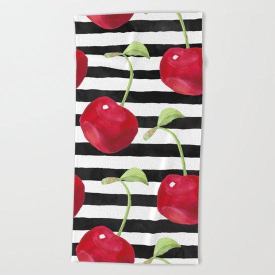 Cherry pattern Beach Towel