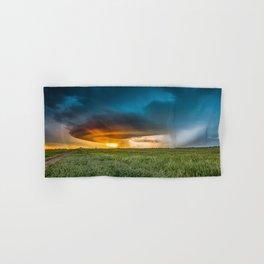 Invasion - Colorful Storm Invading Central Oklahoma Plains Hand & Bath Towel