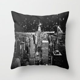 Starry Night in New York Throw Pillow