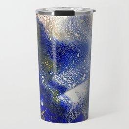 Laced blue galaxy Travel Mug