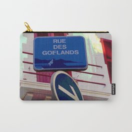 French Street Signs Carry-All Pouch