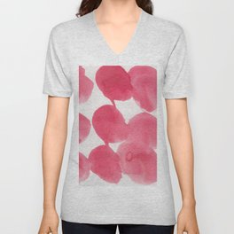 18    | 190408 Red Abstract Watercolour Unisex V-Neck