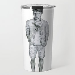 Contemplative Gentleman Travel Mug