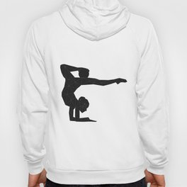 Young gymnast woman with ball silhouette Hoody