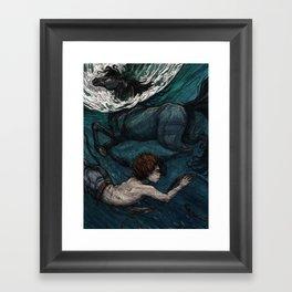 Black Stallion Framed Art Print