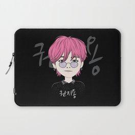 G-Dragon Chibi Cartoon Black Laptop Sleeve