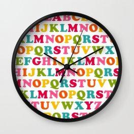 Kiddie Alpha Wall Clock