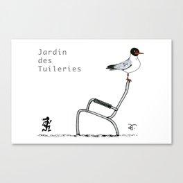 A Few Parisians: Jardin des Tuileries Canvas Print