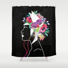 Blowing Mind Music Shower Curtain