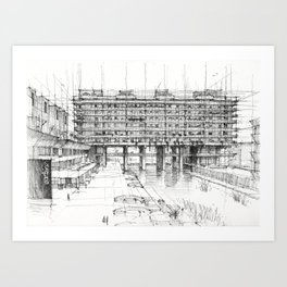 Barbican London 3 Art Print