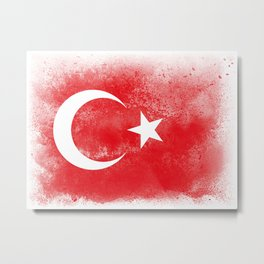 Turkey flag isolated Metal Print