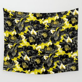 Mount Cook Lily - Yellow/Black Wall Tapestry