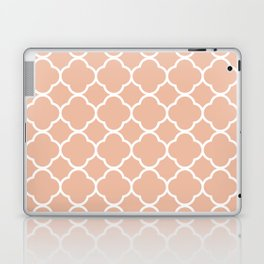 Orange Quatrefoil Laptop & iPad Skin
