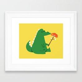 Dragon and Marshmallow Framed Art Print