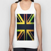 british flag Tank Tops featuring RASTA BRITISH FLAG by shannon's art space