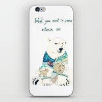 polar bear iPhone & iPod Skins featuring Polar Bear by Yuliya