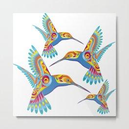 Decorative Hummingbirds Metal Print