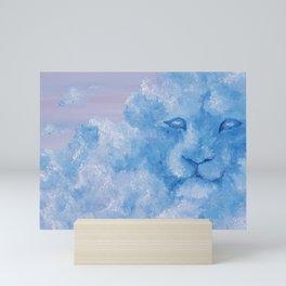 Lion cloud, majestic king of jungle, original oil painting by Luna Smith, LuArt Gallery Mini Art Print