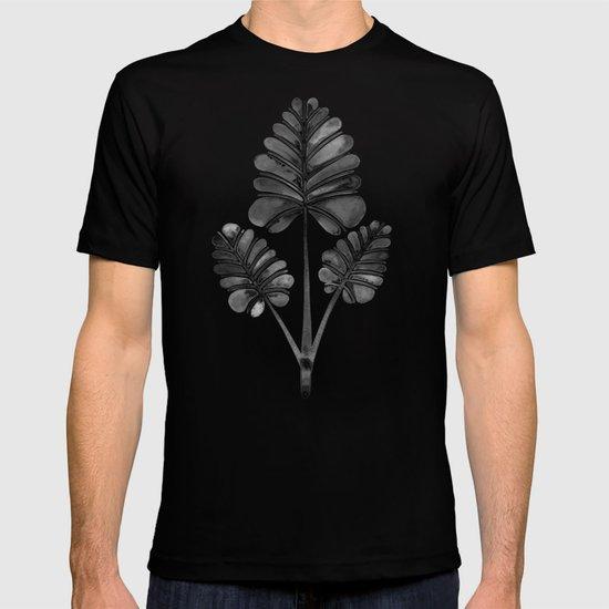 Tropical Palm Leaf Trifecta – Black Palette T-shirt