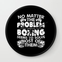 Boxer Martial Arts Boxing Solves Most Of The Wall Clock