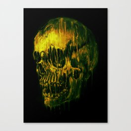 Melting Skull Canvas Print