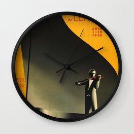 1935 Vintage USSR era Soviet Union Travel Poster Leningrad Festival Of Art Music Ballet Wall Clock
