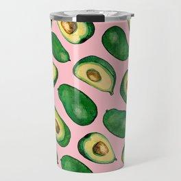 pink avacado Travel Mug