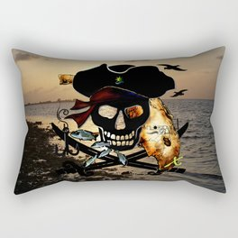 Fishing with a Florida Pirate Rectangular Pillow