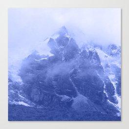 Rocky Mountain Fog Blue Canvas Print