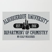 chemistry Area & Throw Rugs featuring Respect the Chemistry by fishbiscuit