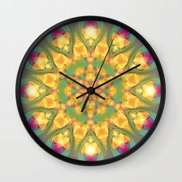 Magical Bohemian Sunflower Wall Clock