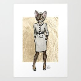 La Coquine, Couture Kitty Art Print