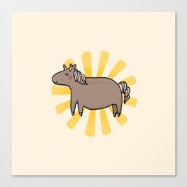 Chubby Unicorn Canvas Print
