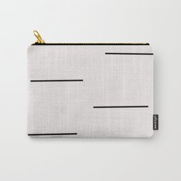 Mudcloth white black dashes Carry-All Pouch