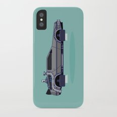 Flying Delorean Time Machine - Back to the future series Slim Case iPhone X