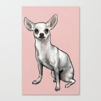 chihuahua Canvas Prints featuring Chihuahua by Seni