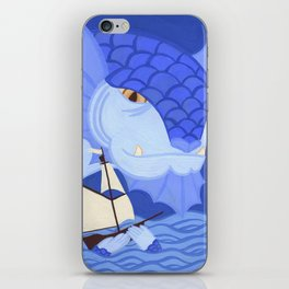 A Friendly Sea Monster iPhone Skin