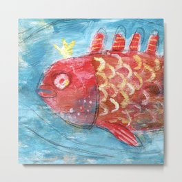 Royal Fish Metal Print