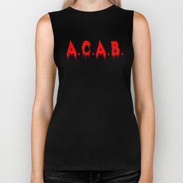 ACAB A.C.A.B. All Cops Blood Bloody T-Shirt Design Biker Tank
