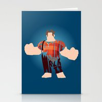 wreck it ralph Stationery Cards featuring I'm Gonna Wreck It Typography by Rebecca McGoran